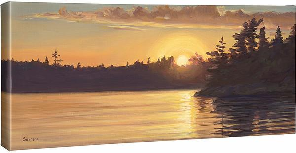 <I>Setting Sun Iii</i> Gallery Wrapped Canvas