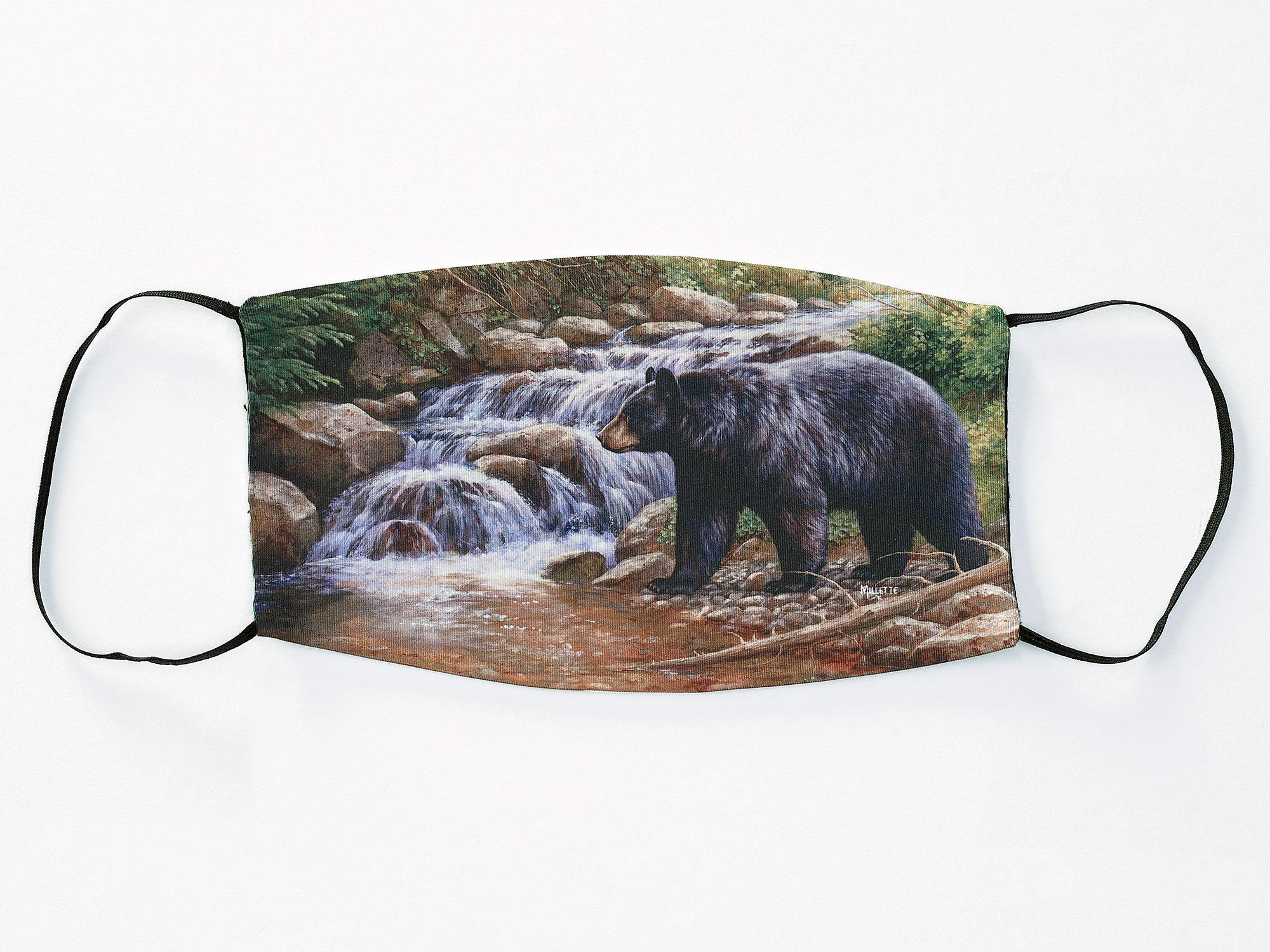 Forest Waters-Bear Face Mask
