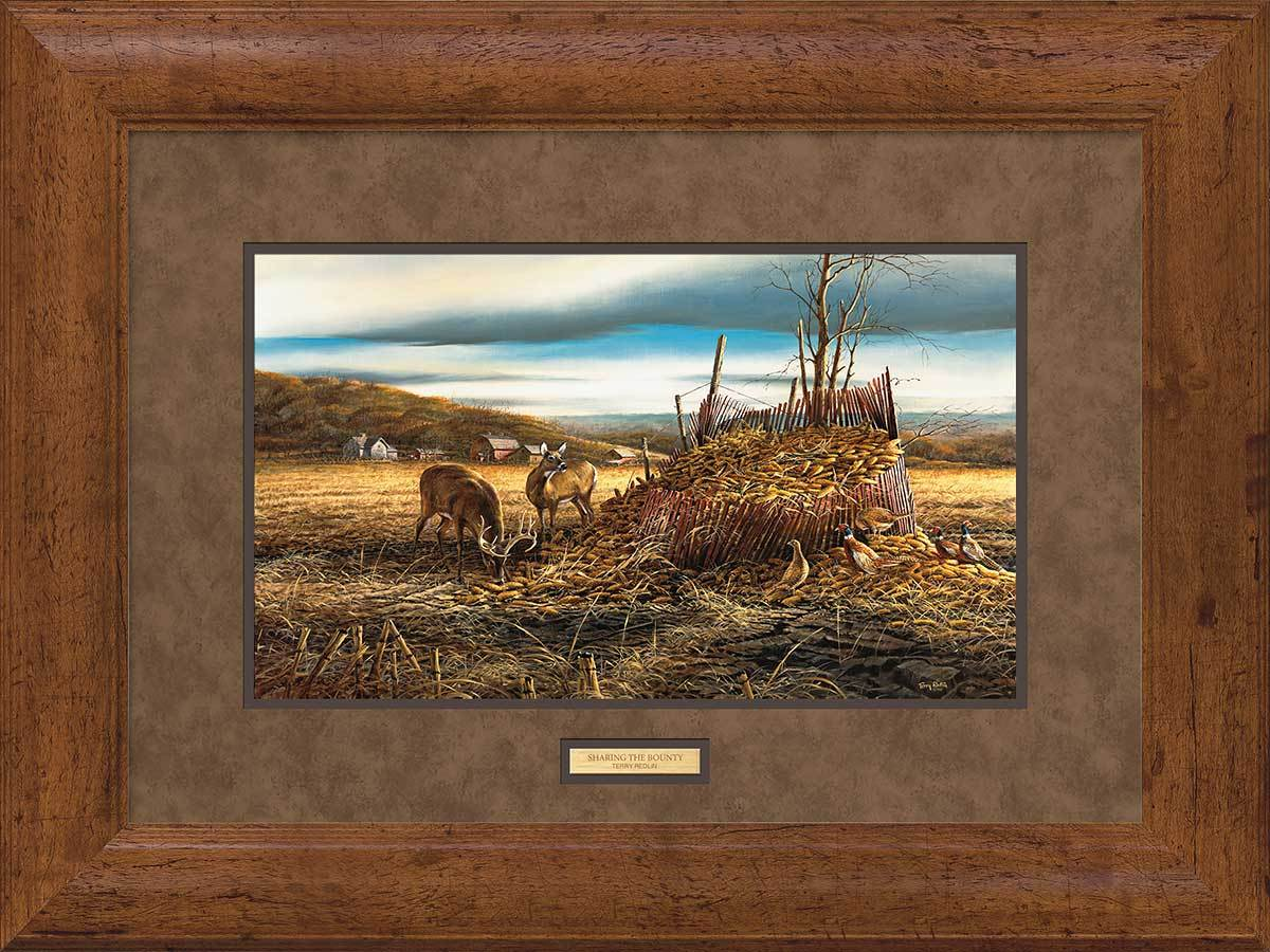 <I>Sharing The Bounty&mdash;deer</i> Framed Encore Print