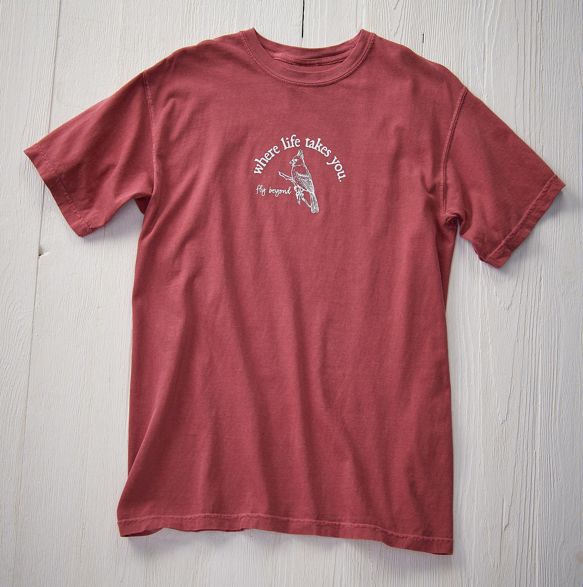 Living the Dream-Cardinal Short-Sleeved Shirt