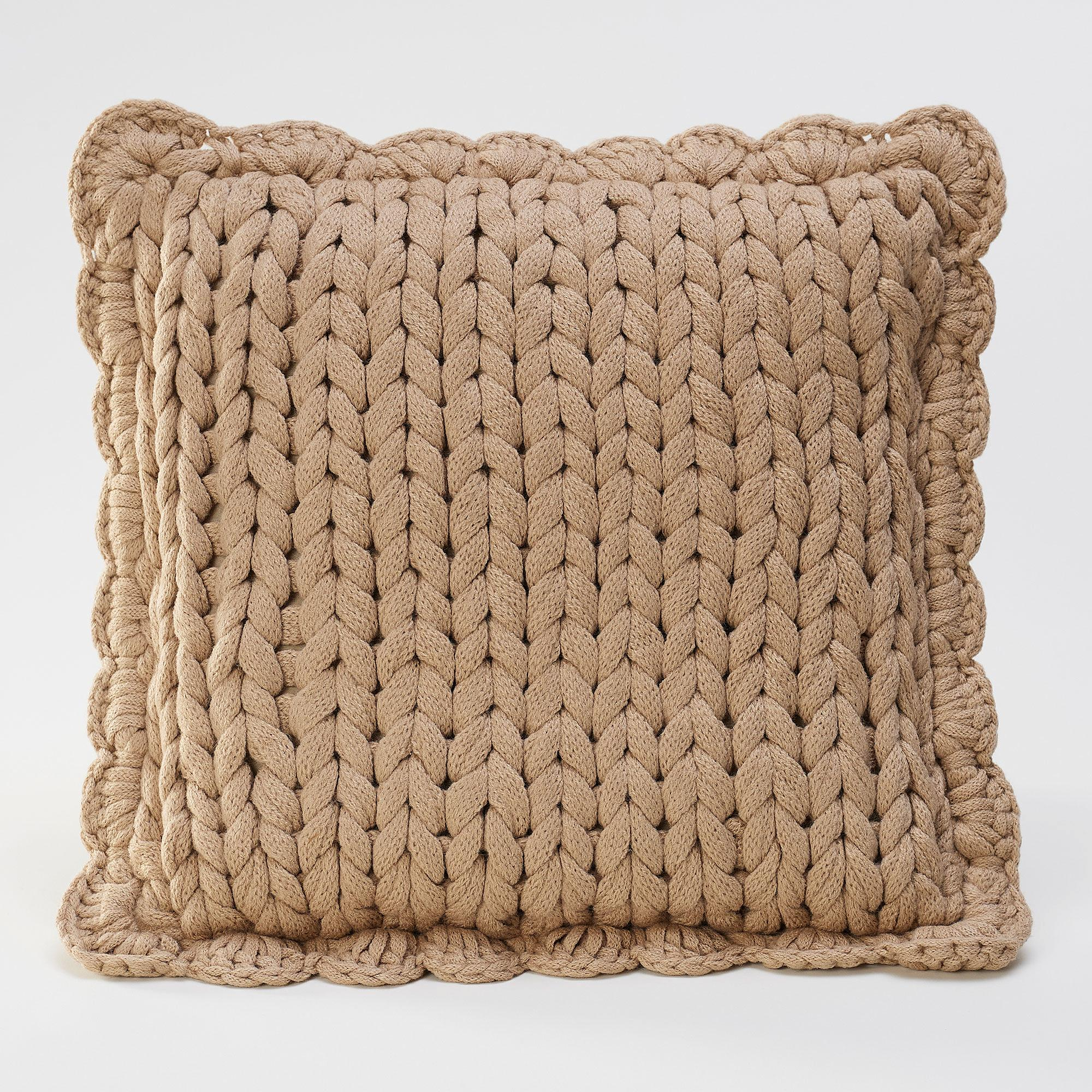 Chunky Taupe Pillow