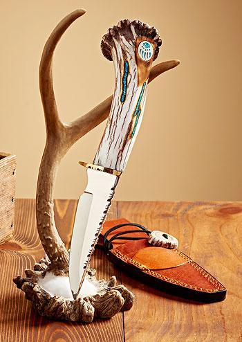 Antler & Silver—bear Decorative Knife
