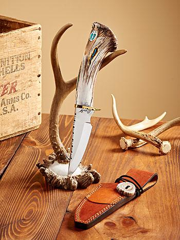 Antler & Silver—deer Decorative Knife