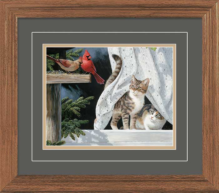 Curtain Call-Cats & Birds Limited Edition Print