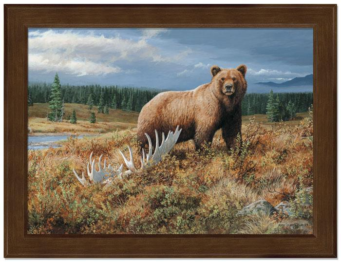 <I>Autumn Splendor&mdash;grizzly</i> Framed Studio Canvas<Br/>17H X 22W Art Collection