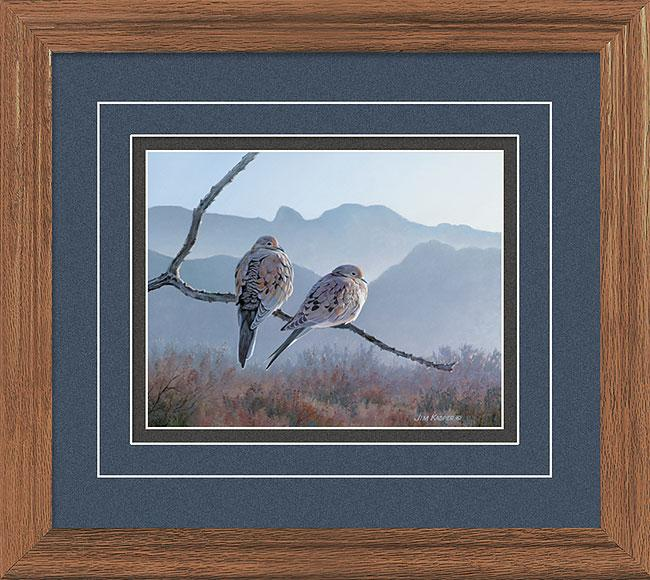 Mourning Doves Gna Deluxe Framed Print