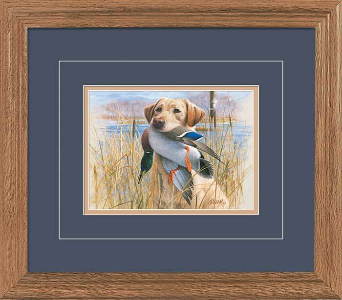 Proud Retriever—yellow Lab Gna Deluxe Framed Print