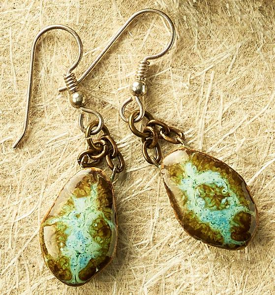 Ceramic Turquoise Earrings