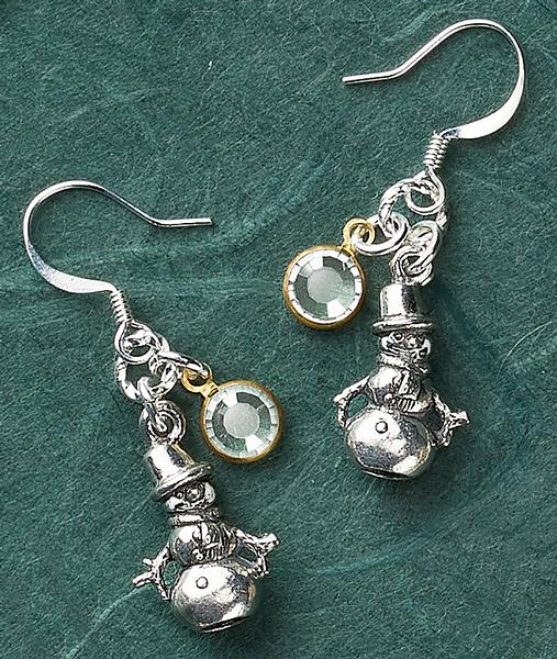 Snowman & Snowflake Earrings