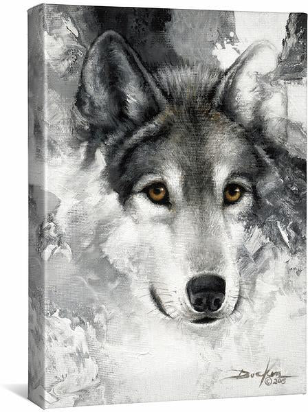 <I>Snow Wolf</i> Gallery Wrapped Canvas