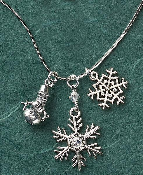 Snowman & Snowflake Necklace