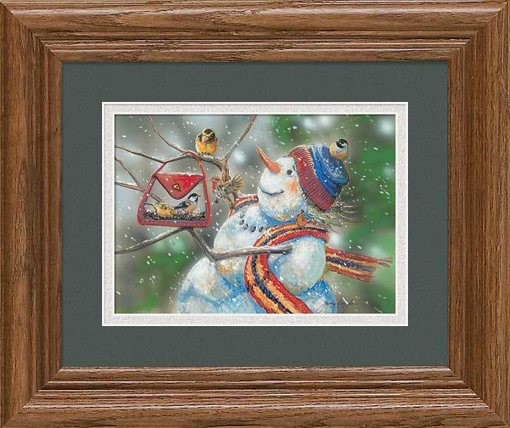 Snow Lady—snowman Gna Mini Framed Print