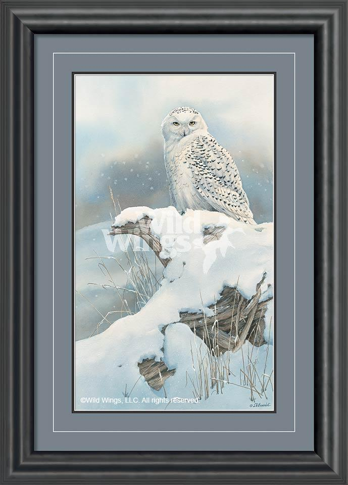 <I>Northern Nomad&mdash;snowy Owl</i> Framed Limited Edition Print<Br/>36H X 26W Art Collection