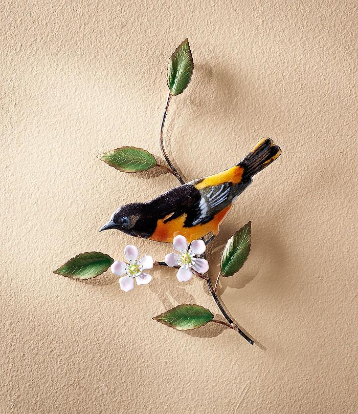 Baltimore Oriole w/ Flowers.