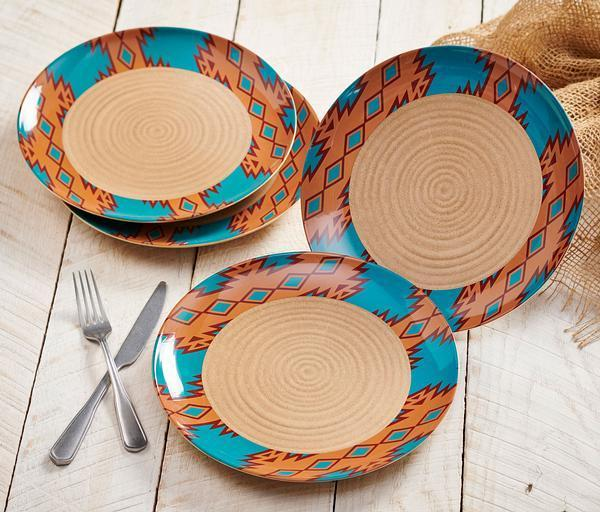 Southwest Turquoise Dinnerware Set
