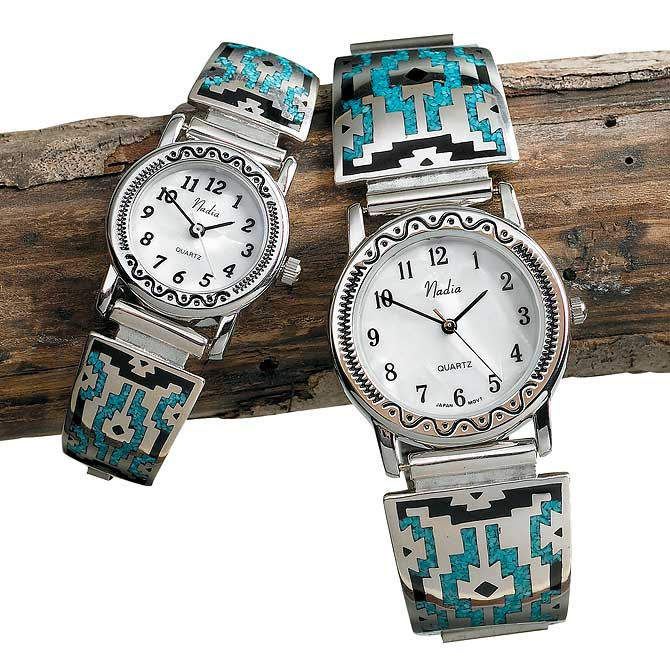 Southwestern Silver & Turquoise Watch Collection