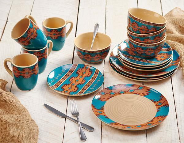 Southwest Turquoise Dinnerware Collection