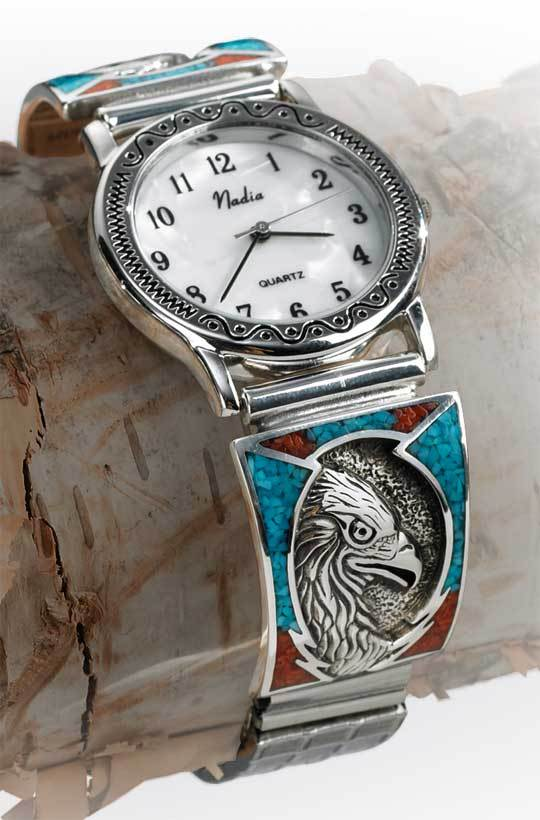 Sterling Silver Eagle Mens Watch