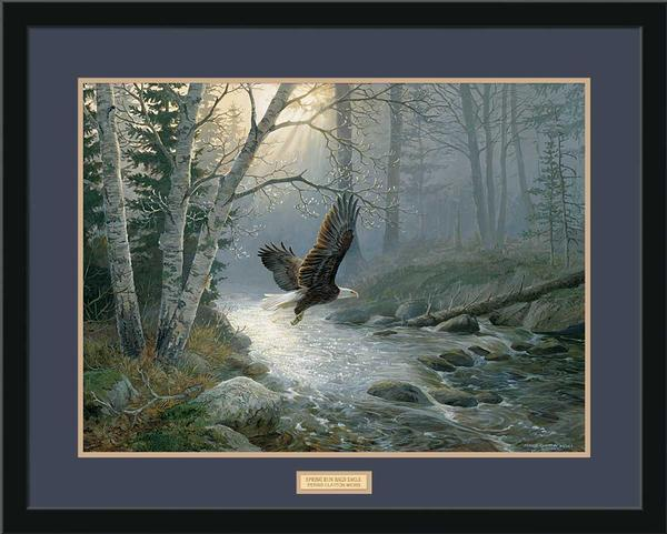 Spring Run—bald Eagle Gna Premium Framed Print