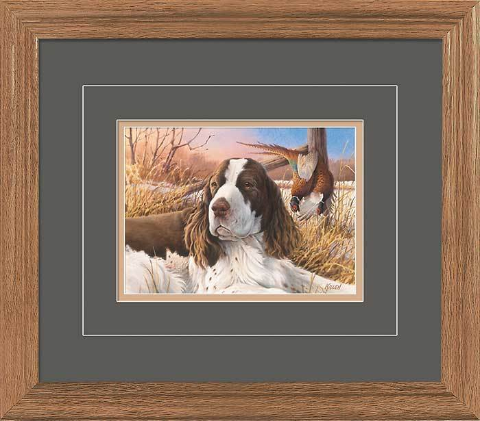 A Proud Day—springer Spaniel Gna Deluxe Framed Print