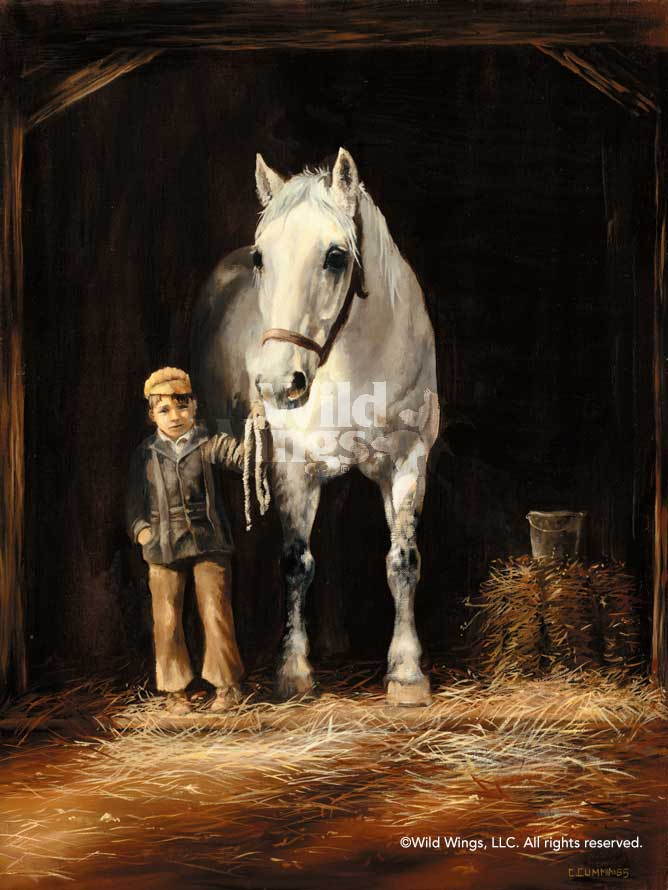 Stable Boy with Horse.