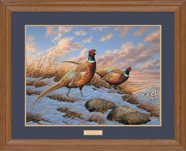 <I>Standing Ground&mdash;pheasants</i> Gna Premium Framed Print<Br/>25H X 31W Art Collection