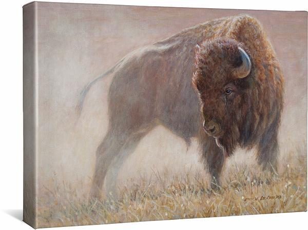 <I>Standoff&mdash;bison</i> Gallery Wrapped Canvas