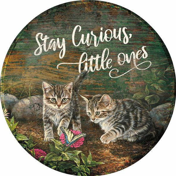 <I>Stay Curious Little Ones</i> 12 Round Wood Sign