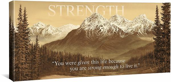<I>Strength</i> Gallery Wrapped Canvas