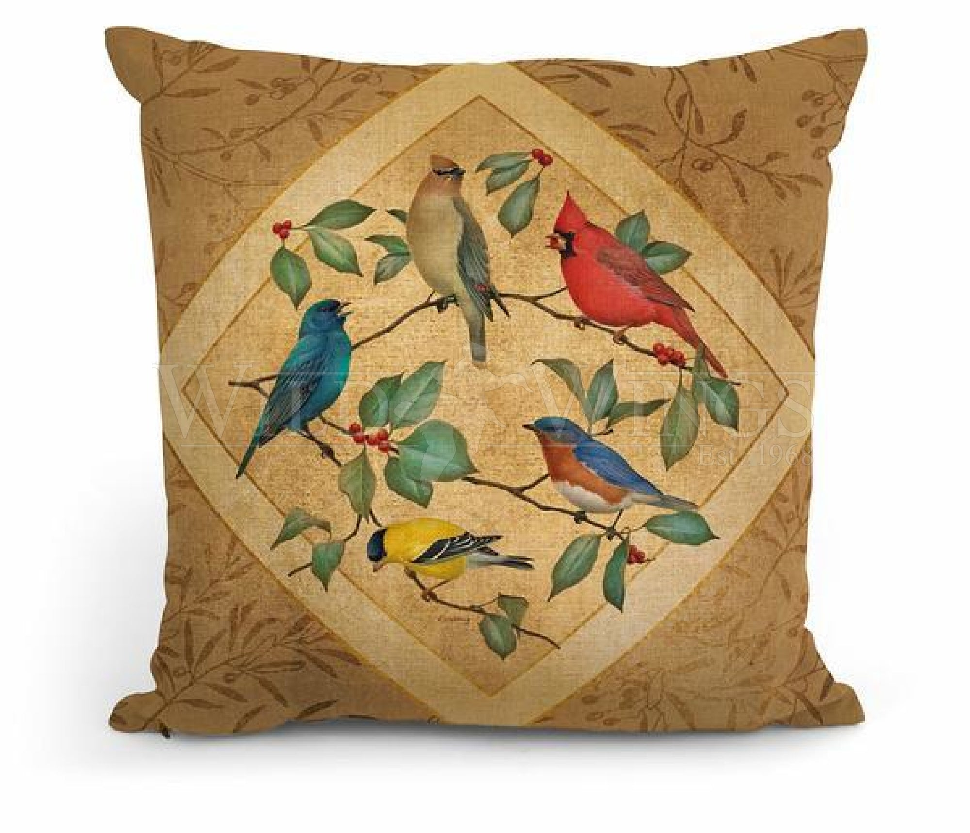 Summer Birds I 18 Decorative Pillow