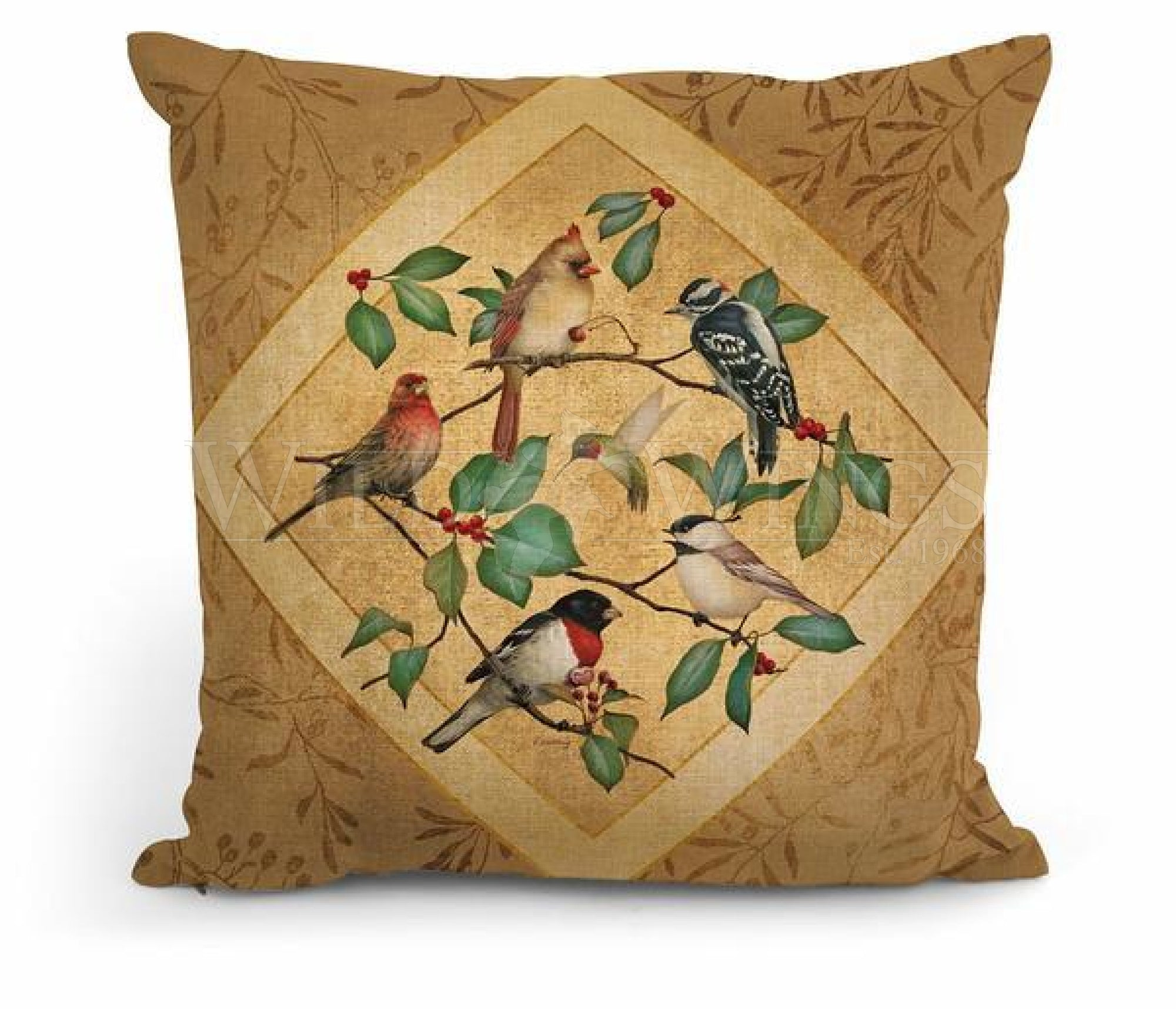 Summer Birds Ii 18 Decorative Pillow