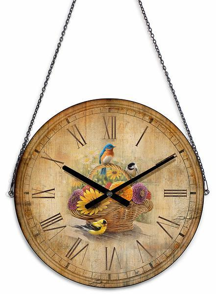 <I>Summer Bouquet&mdash;songbirds</i> 21 Round Clock