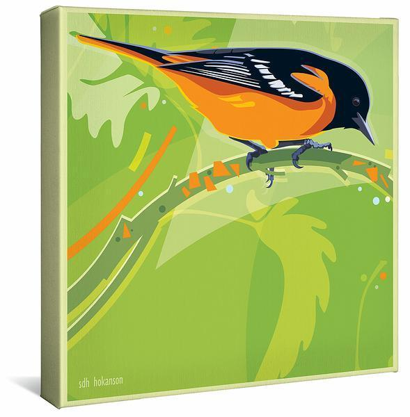 Summer Flame—oriole Gallery Wrapped Canvas