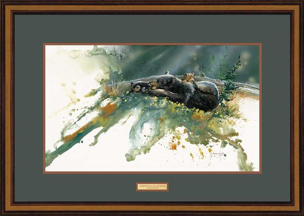 Sunbathing-Black Bear Art Collection