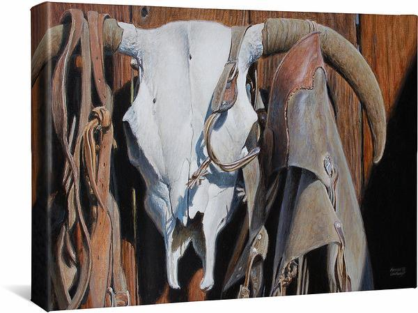 <I>Sundried&mdash;longhorn Skull</i> Gallery Wrapped Canvas