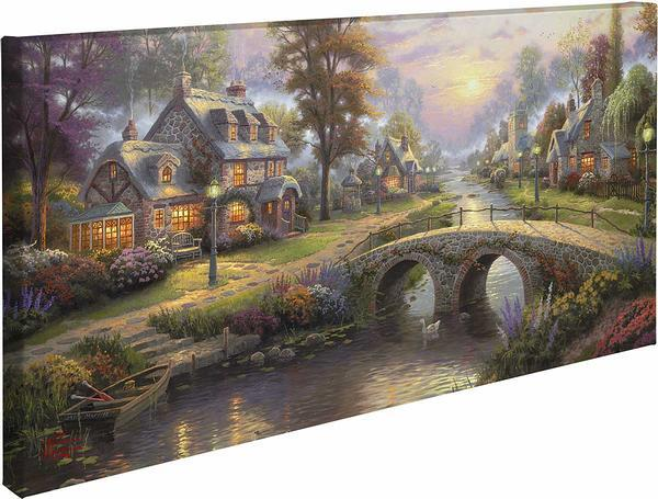 <I>Sunset On Lamplight Lane</i> Gallery Wrapped Canvas