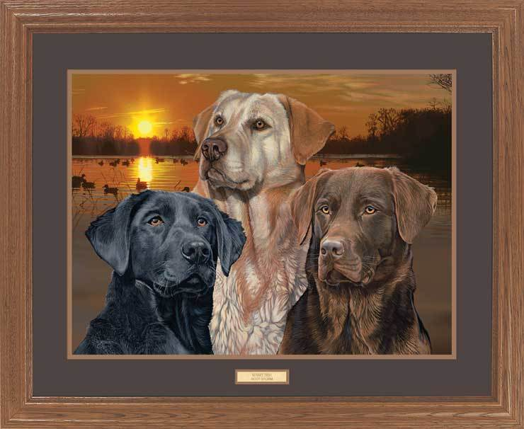 Sunset Trio—Dogs.