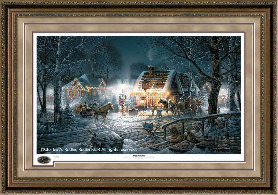 Sweet Memories Framed Limited Edition Print<Br/>32.5H X 45.5W Art Collection