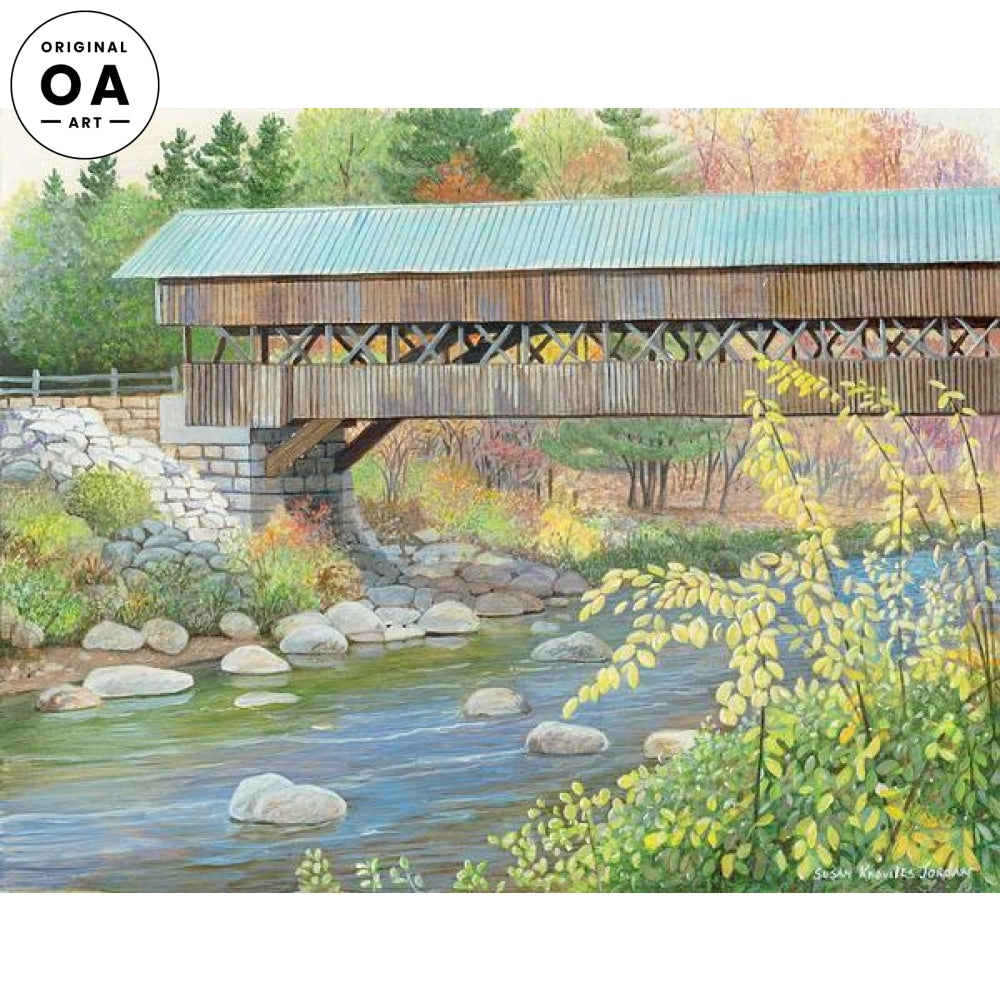 Swift River Bridge Original Artwork