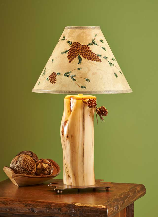 Hand Painted Bristlecone Table Lamp