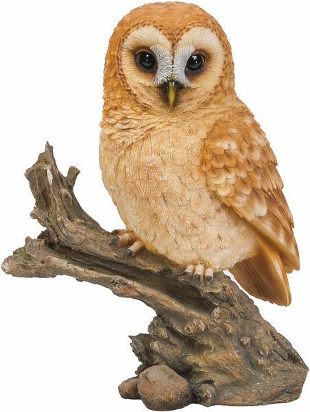 Perched Tawny Owl Sculpture