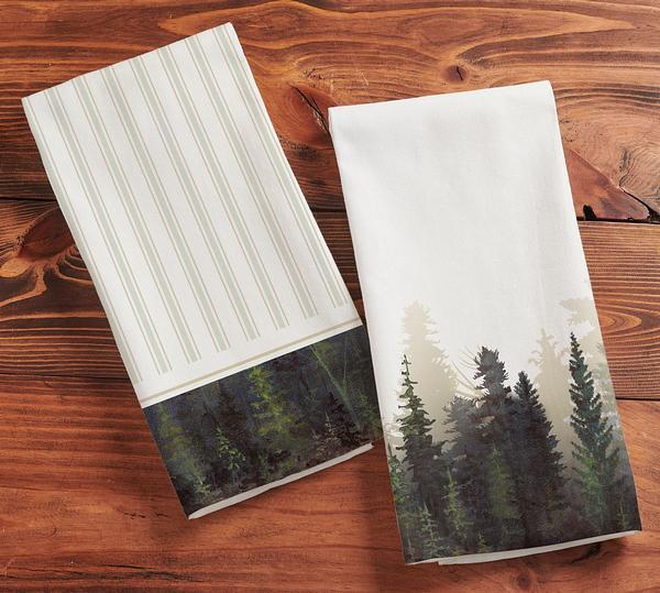 Misty Forest Tea Towels
