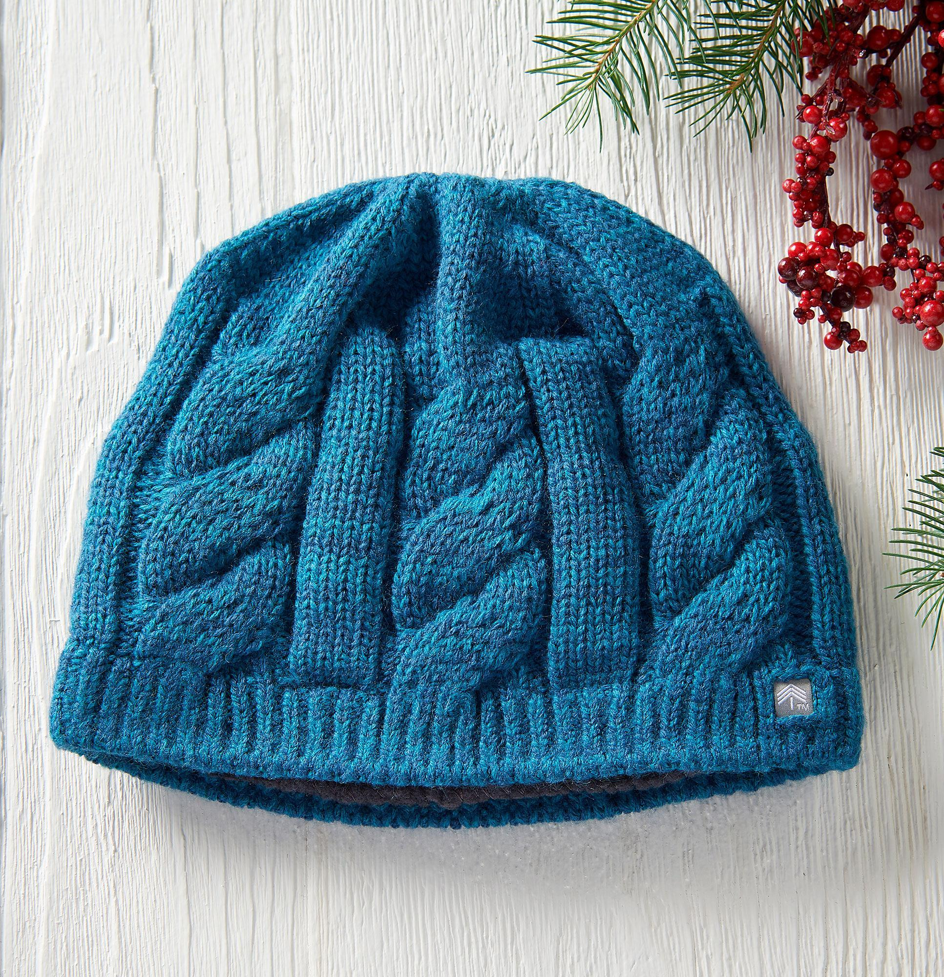 Heather Teal Beanie Hat