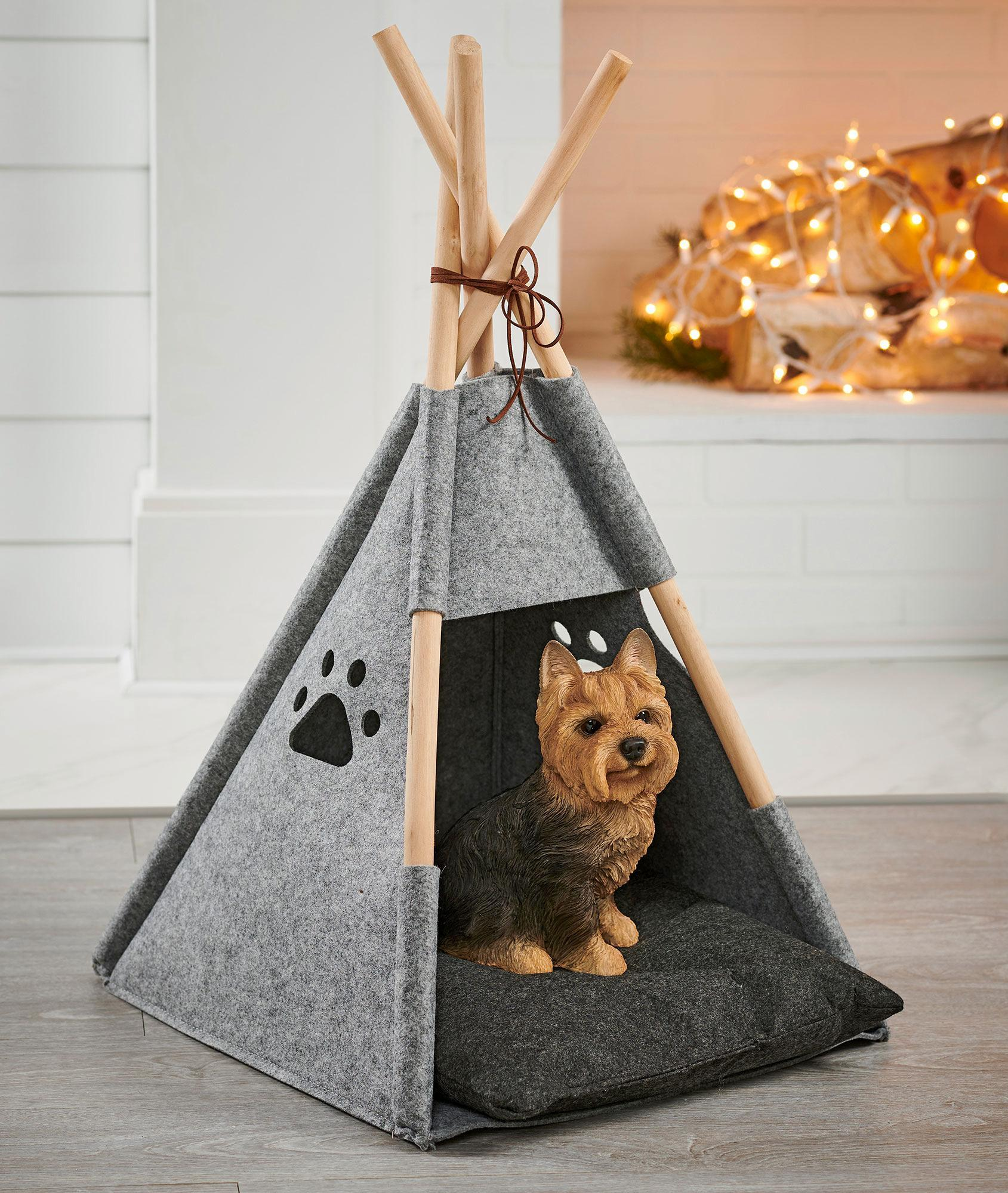 Felt Dog Tent Pet Bed