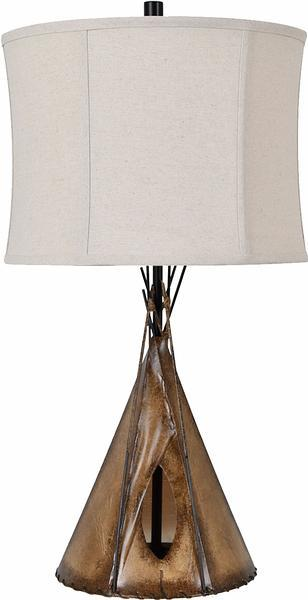 Light On The Horizon Teepee Table Lamp