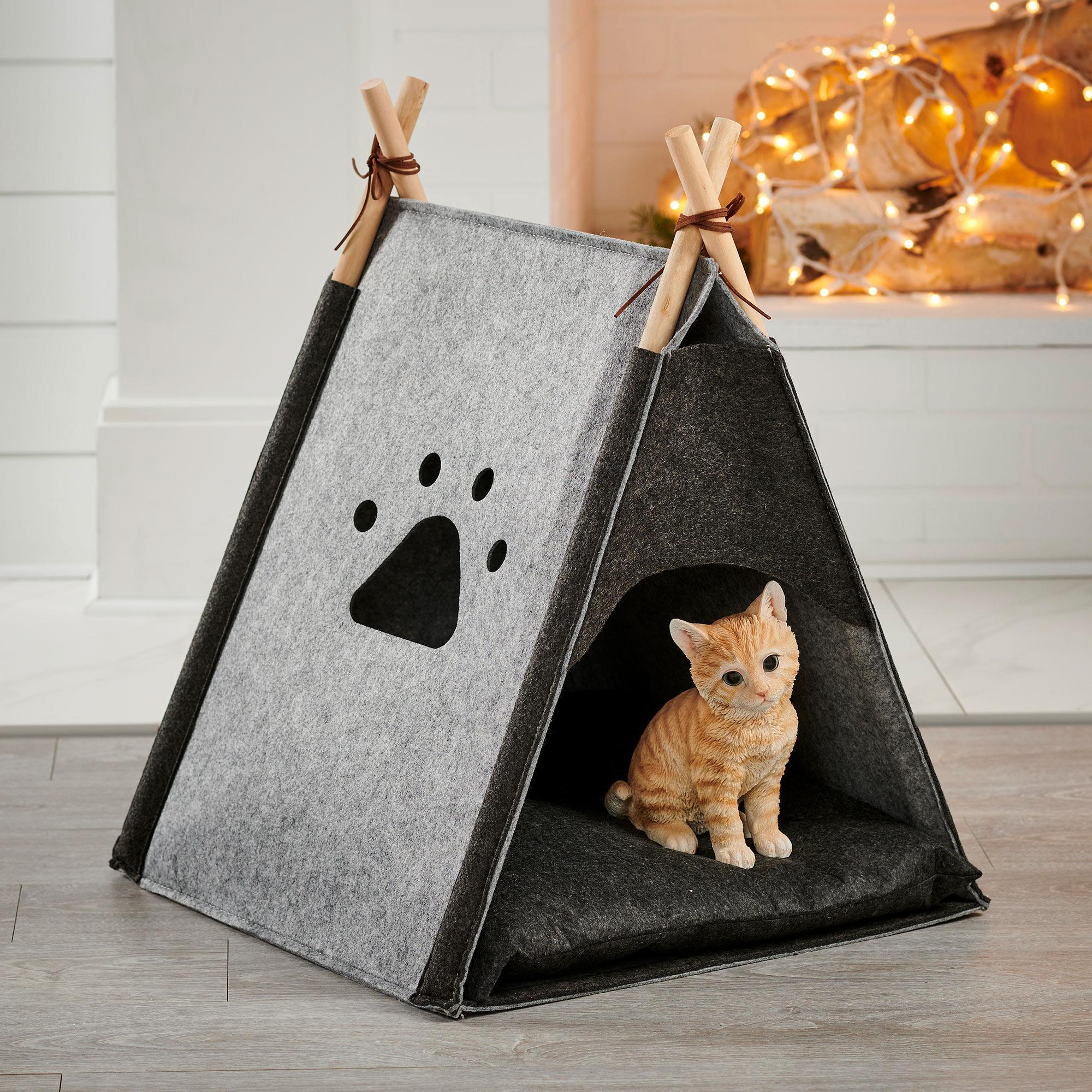 Felt Cat Tent Pet Bed