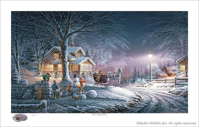 Winter Wonderland Limited Edition Print<Br/>18.5H X 32W Art Collection