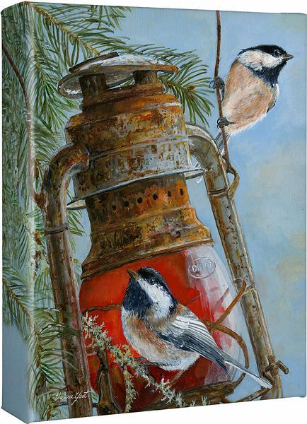 <I>The Acrobats&mdash;chickadees</i> Gallery Wrapped Canvas