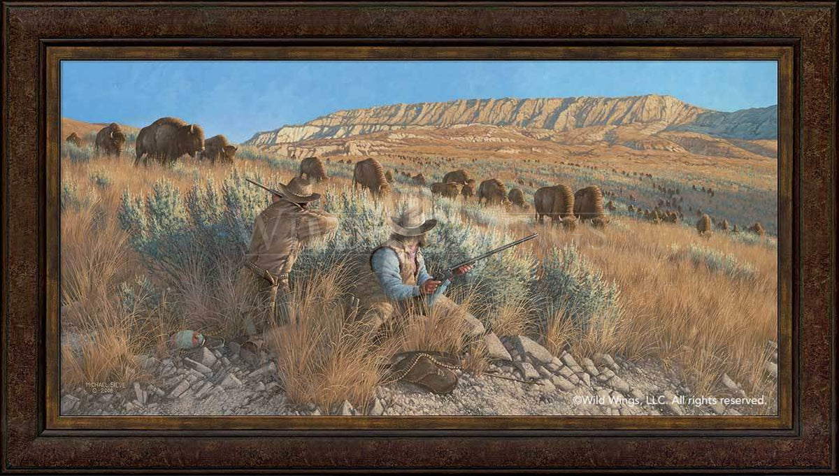 <I>The Buffalo Hunters</i> Framed Limited Edition Canvas<Br/>30.5H X 54.5W Art Collection