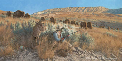 <I>The Buffalo Hunters</i> Limited Edition Print<Br/>18H X 36W Art Collection
